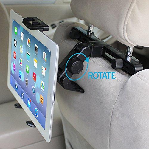 Kopfstütze Halterung | iKross Universal Kfz Auto Tablet-Halterung an der Kopfstütze für Rücksitz für 7 - 10.2 Zoll Tablet - Schwarz