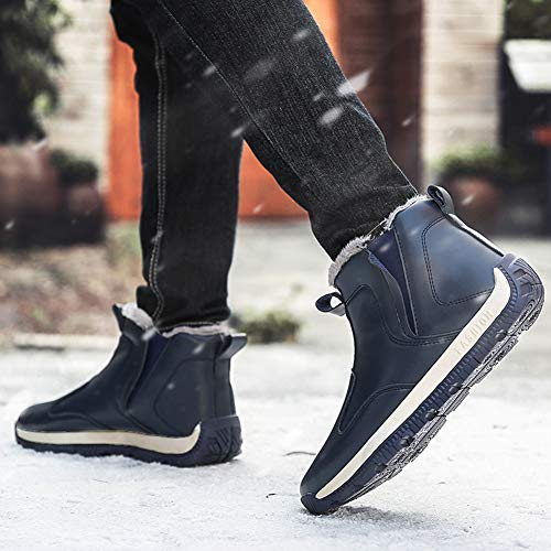 Ankle Men Waterproof Shoes Blue Anti Snow Slip Zophin Outdoor Boots Boots Winter Warm Sneakers RB6BW