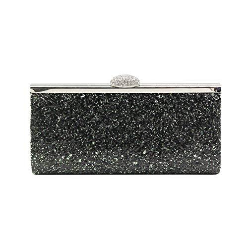 Rigide Sac Scintillant Argenté Monnaie Porte Paillettes Pour Main Femme Pochette en Style Noir à q4xTw66t1