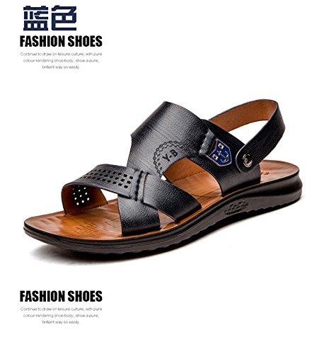 Sommer Mode Das neue Faser Sandalen Männer Strand Schuh Atmungsaktiv Freizeit Männer Sandalen ,schwarz,US=9.5,UK=9,EU=43 1/3,CN=45