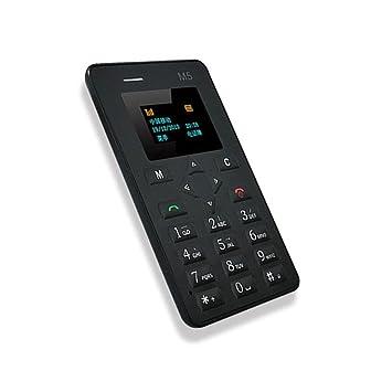 Teléfono móvil de bolsillo delgada ultra mini tarjeta de teléfono Inglés teléfono celular del teclado niños