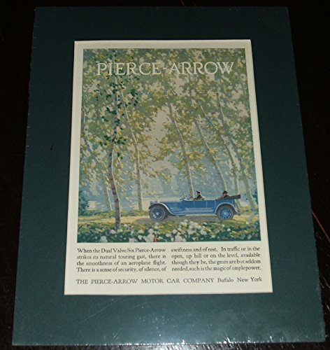 1920 Full Page Color Automotive Ad for Pierce-arrow , Matted Ready to -