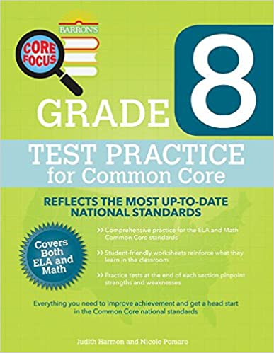Barrons core focus grade 8 test practice for common core judith barrons core focus grade 8 test practice for common core csm edition fandeluxe Image collections