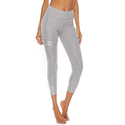 Amazon.com : FANGNVREN Yoga Pants, Fashion Stamping Print ...