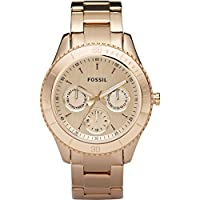 Fossil ES2859 Stella Plated Stainless Steel Watch - Rose by Fossil