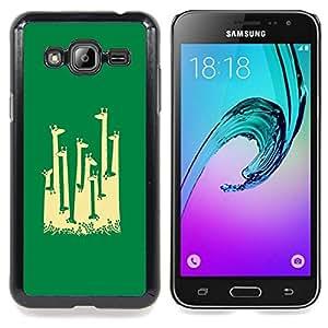 Stuss Case / Funda Carcasa protectora - Jirafa África minimalista Artístico - Samsung Galaxy J3 GSM-J300