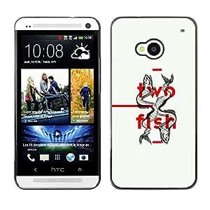 Be Good Phone Accessory // Dura Cáscara cubierta Protectora Caso Carcasa Funda de Protección para HTC One M7 // Two Fish Minimalist Design Deep