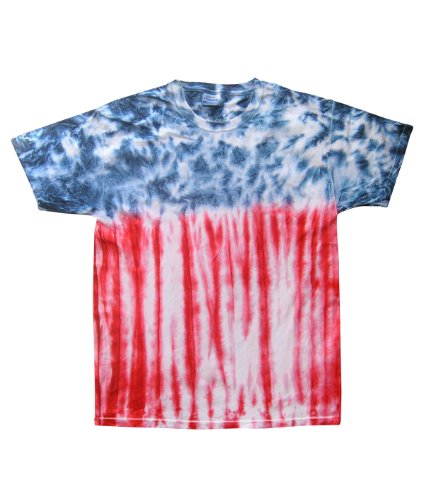 Tie-Dye 5.4 Oz., 100% Cotton Tie-Dyed T-Shirt (CD100)- Flag,XXX-Large (Tie Dyed Shirt)