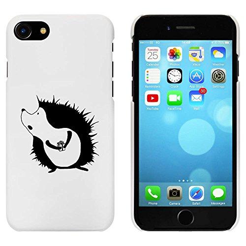 Blanc 'Hérisson avec Cadeau' étui / housse pour iPhone 7 (MC00061684)