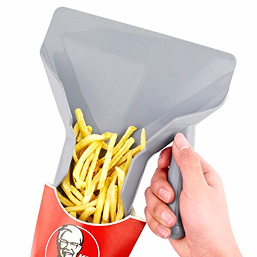Plastic French Fry Scoop - Only Right Handle Comerical Plastic Chips Scoop Food French Fries Shovel Handle Fry Scoop