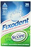 Fixodent Plus Scope Denture Cleanser Tablets 36 Count (Pack 3)
