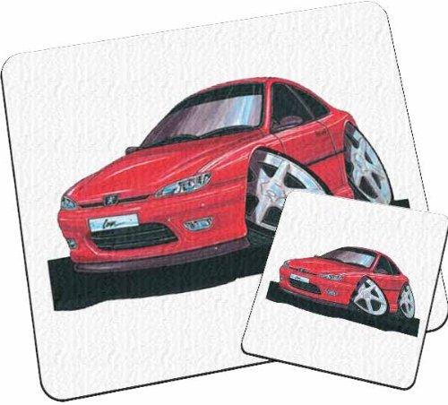 Peugeot 406 Cars - Personalised Koolart Peugeot 406 Coupe Car Glass Table Mat Set