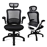 Ergonomic Mesh Office Chair, Swivel Desk Chairs High Back Computer Task With And