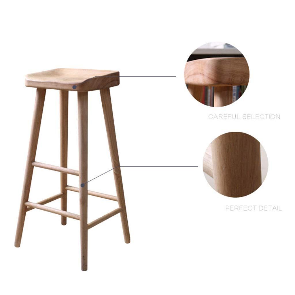 Nordic Log Bar Chair Imitation Wood Solid Wood Bar Stool Cafe High Stool Single Bar Stool 0520BAR
