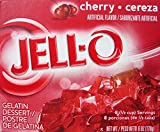 Jell-O Cherry Flavor Instant Gelatin, 6.0 oz (4-Packs)