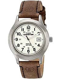 Men's T49870 Expedition Metal Field Brown Leather Strap Watch