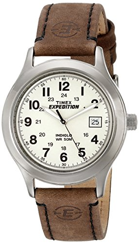 Timex Men's T49870 Expedition Metal Field Brown Leather Stra
