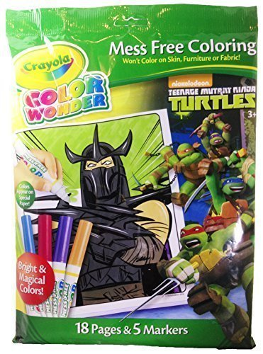 Ninja Turtle Colors (Crayola Color Wonder Mess Free Coloring Teenage Mutant Ninja Turtles)