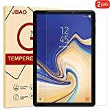 [2-Pack] Samsung Galaxy Tab S4 Screen Protector, JBAO Direct 9H Hardness[Premium Tempered Glass][Ultra Clear][No Bubble][Anti-Fingerprint][Touch Responsive] (10.5 inch)