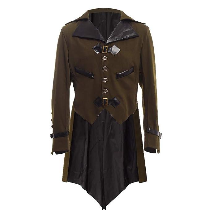 BLESSUME gotisch viktorianisch Frack Steampunk VTG Mantel Jacke Halloween Cosplay Kostüm