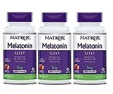 Natrol Melatonin Fast Dissolve Tablets, Strawberry Flavor, 5mg, 90 Count (Pack of 3)