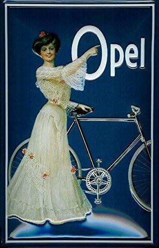 Opel Bicycles Classic Art Deco Vintage Garage Old 3d Medium Metal
