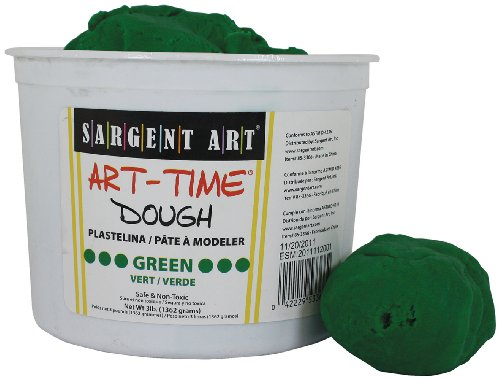 Sargent Art 85-3366 3-Pound Art-Time Dough, Green - 3 Floral Art