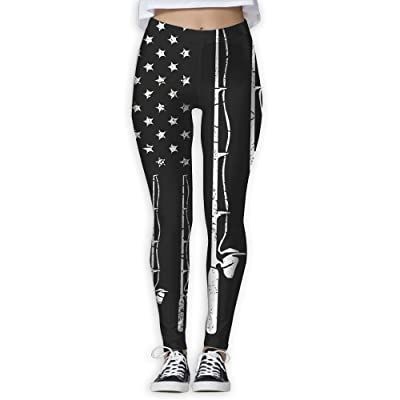 NUNOFOG American Flag Fishing Women's Yoga Pants Workout Capris Lightweight Yoga Leggings