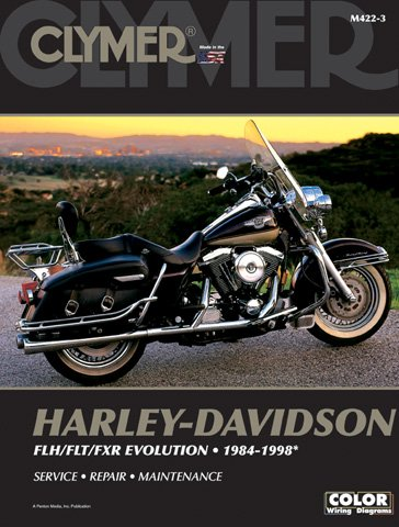 1984-1998 Harley Davidson FLH/FLT/FXR Evolutn CLYMER MANUAL H-D FLH/FLT/FXR EVOLUTN 84-98, Manufacturer: CLYMER, Manufacturer Part Number: M422-3-AD, Stock Photo - Actual parts may vary. -
