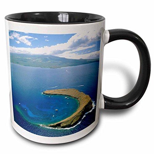 White Mug Hawaii (3dRose (mug_89636_4) Molokini Island Maui Hawaii - US12 DPB0749 - Douglas Peebles - Two Tone Black Mug, 11oz)