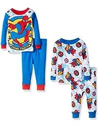 Baby Boys Spiderman 4-Piece Cotton Pajama Set