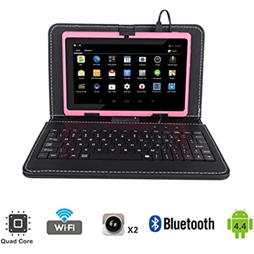 Tagital 7 Quad Core Android 4.4 KitKat Tablet PC, Bluetooth, Dual Camera, Netflix, Skype, 3D Game Supported Bundled with Keyboard (Pink) Coupons