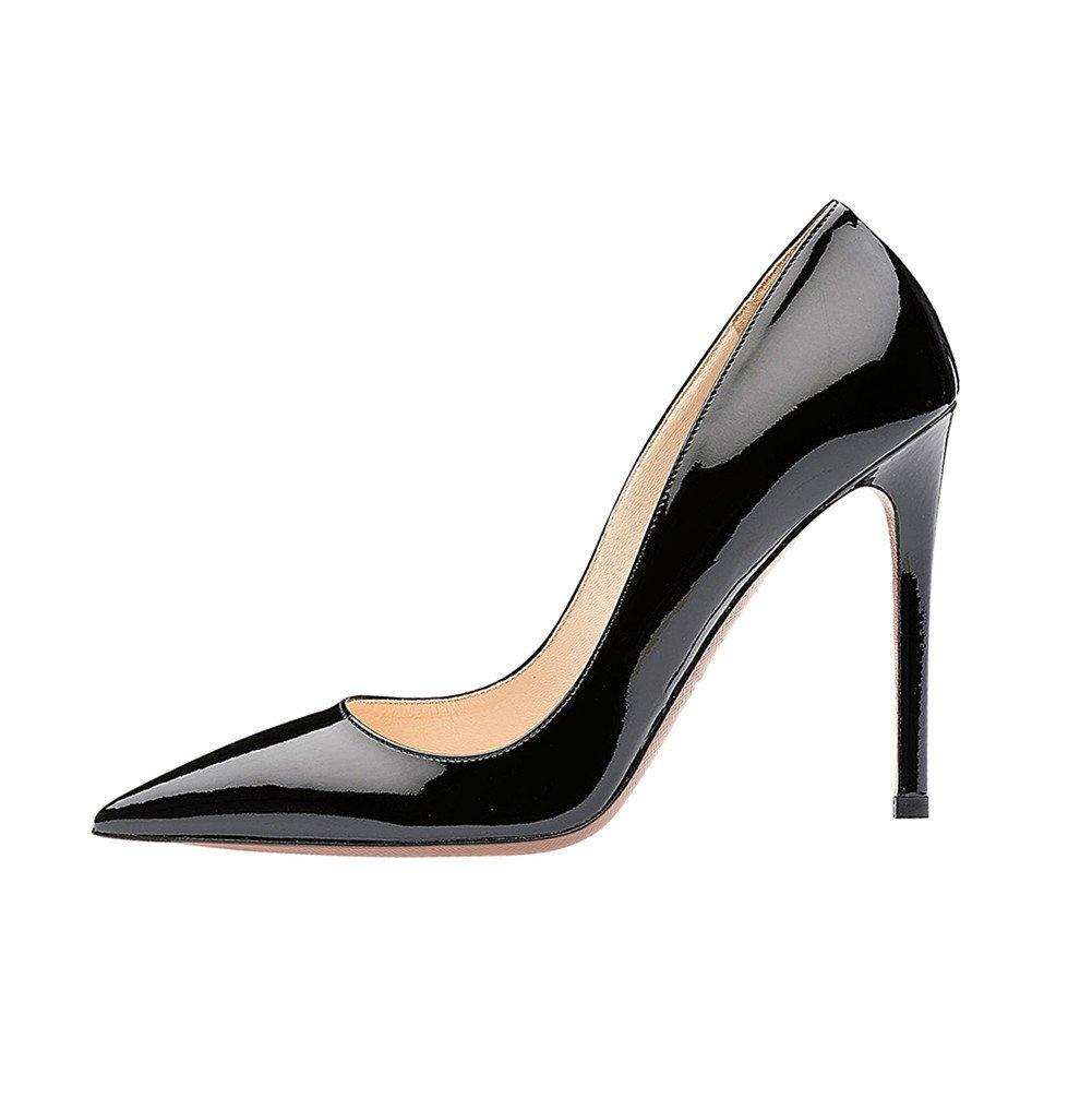SexyPrey Women's Pointy Toe Stiletto Shoes Formal Office Evening Pumps B074M3WQ45 8 B(M) US|Black
