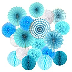 Description: ❤ ★19th piece decoration set. It includes: 9 -piece paper Pompoms, 4 -piece Wabenball and 6 -piece paper compartments. (White, Pink and Pink) ❤ ★Hanging on a wall, a tree, curtain, a door or as an individual element to add glamor...