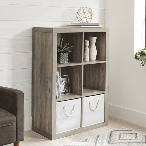 (Better Homes and Gardens 6-Cube Decorative Organizer in Finish (Rustic Gray))