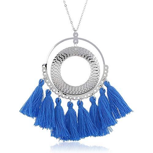 dream-boy-kkk Necklace Women Long Necklace Necklace Accessories Colorful Vintage Ethnic Style Fashion Jewelry ()