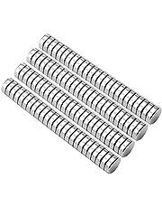 HHOOMY Neodymium magneten - 100 stuks mini magneten rond 5 x 1 mm met opbergdoos, N52 NdFeB magneten zeldzame aarde, permanente magneet voor doe-het-zelf handwerk, kantoorprikbord, whiteboard, koelkast, magneetbord