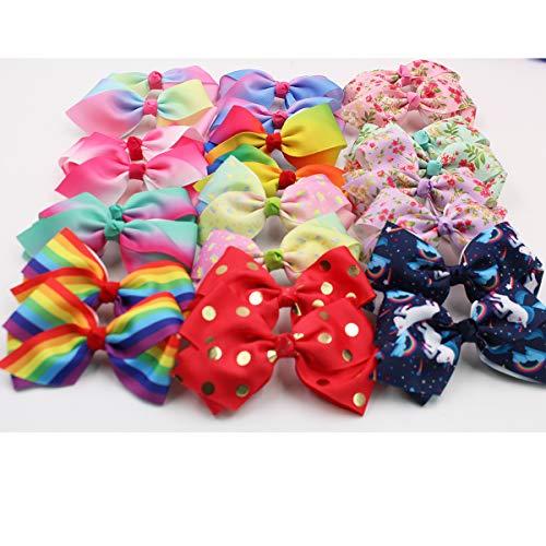Rainbow Cloud Ribbon Hair Bows Alligator Clips for Baby Girls