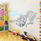 Triceratops Fossil Bones Cartoon Dinosaur color Wall Sticker Kids Art Decal available in 8 Sizes Gigantic Digital