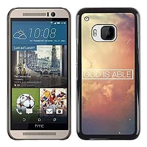 Paccase / SLIM PC / Aliminium Casa Carcasa Funda Case Cover para - BIBLE God Is Able - HTC One M9