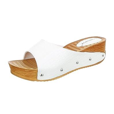 Schuhtraum Damen Sandalen Clogs Pantoletten Plateau Keilabsatz Wedge  Sandaletten ST657  Amazon.de  Schuhe   Handtaschen 421ac623d4