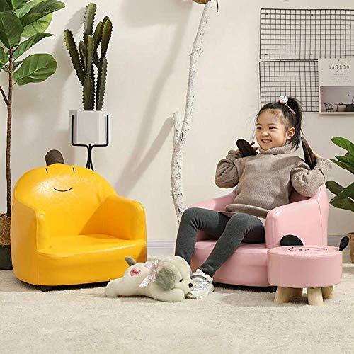 JIEER-C Fritidsstolar soffa pall barnstol PU-säte söt tecknad lat säte fåtölj liten soffa barn soffa hållbar stark
