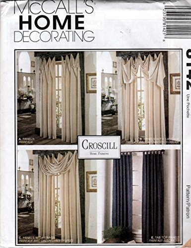 Mccall's Home Decorating 8142 Pattern for Custom Designed Panels/Swags/Cascades/Tab Top ()