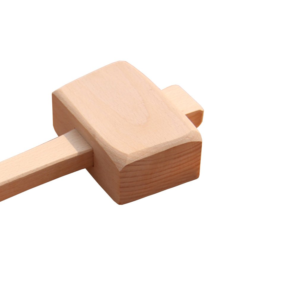 Wooden Mallet -Beechwood Woodworking Mallet with 4⅓ in Bora 1.9inx2.7in striking face,for Solid,Damage-Free Striking. by AdongTop (Image #2)