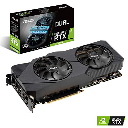 ASUS Dual GeForce RTX 2070 Super EVO 8GB GDDR6 with Two Powerful Axial-tech Fans for High Refresh Rate AAA Gaming and VR DUAL-RTX2070S-8G-EVO