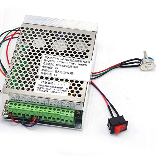 Laser Pulse Width - Input AC180V-260V Output DC0-220V 8A Pulse-Width PWM DC Motor Speed Controller Driver HX-SXPWM