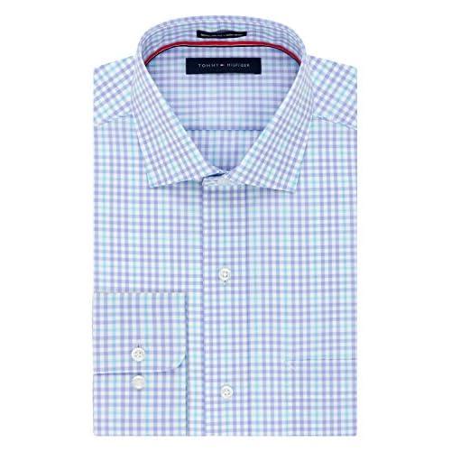 Tommy Hilfiger Mens Buttondown Shirt Custom Fit Long Sleeve Tattersall Woven New