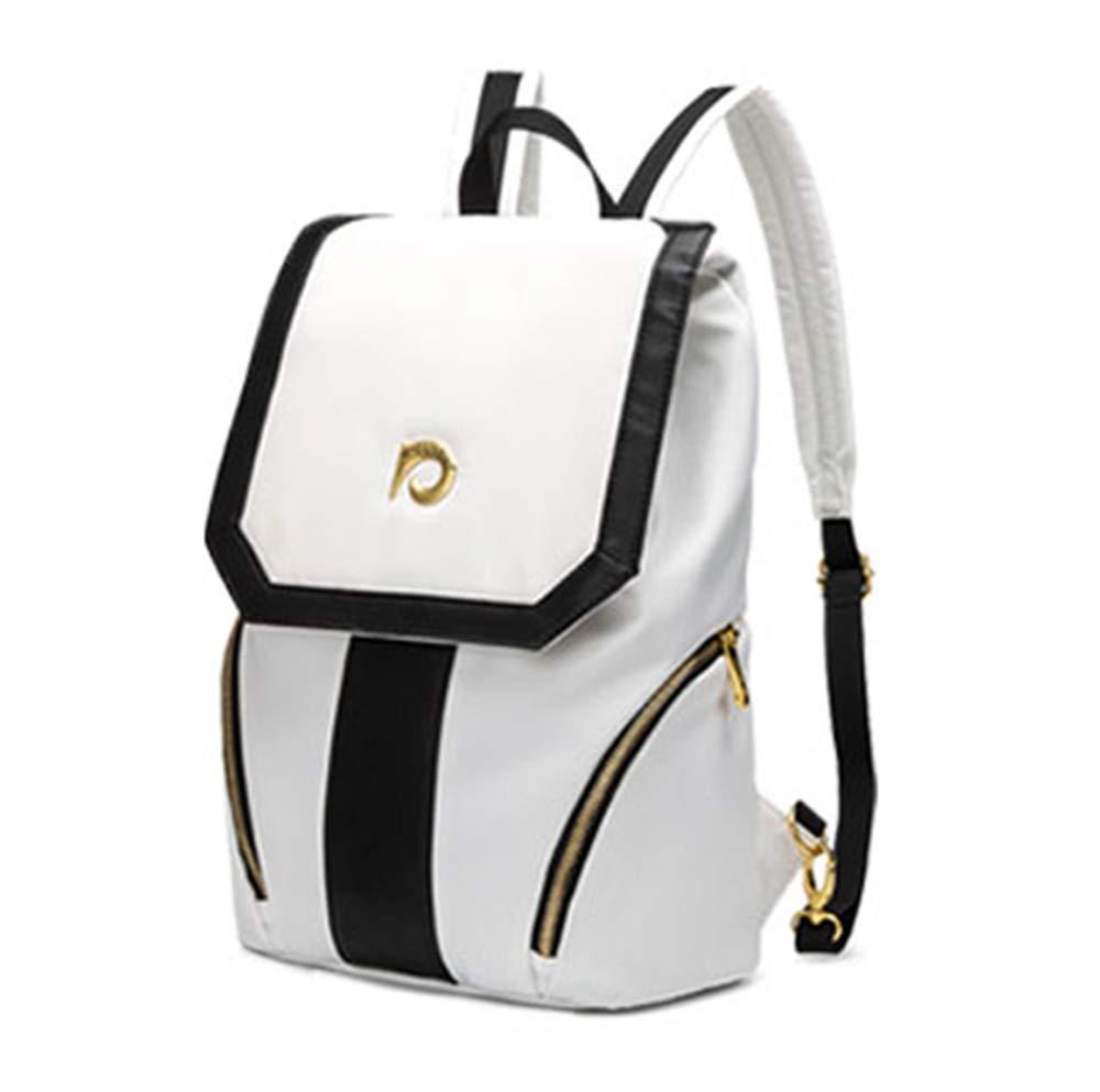 ダブルスのバックパックのショルダーバッグ韓国のファッションカジュアルなキャンバスオックスフォード布バッグ大容量 B07LD4Y3TG white