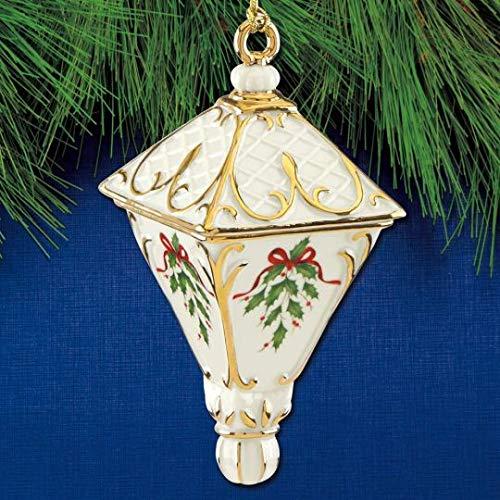 - Lenox 2018 Xmas Holiday Annual lantern shaped Porcelain ornament by Lenox