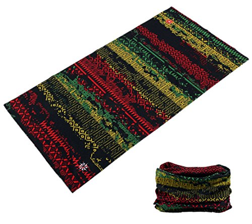 Rasta Head (RASTA REGGEA COLORS MULTI FUNCTION MICROFIBER SEAMLESS BANDANA HEADBAND WRAP / HAT / SCARF)